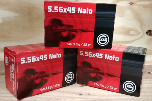 GECO 5.56 NATO Ammunition GE278140050 55 Grain Full Metal Jacket 50 Rounds