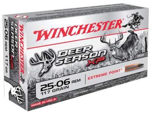 Winchester 25-06 Rem Ammunition Deer Season XP X2506DS 117 Grain Extreme Point 20 Rounds