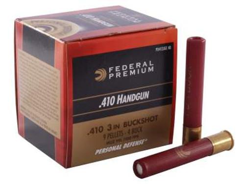 "Federal 410 Bore Ammunition Personal Defense PD413JGE4B 3"" 4 Buckshot 9 Pellets 950fps 20 rounds"