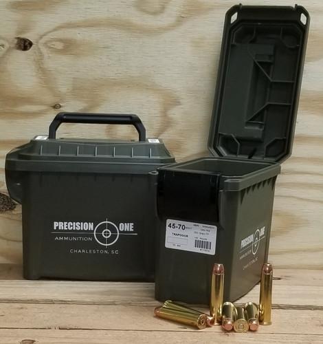 Precision One 45-70 Ammunition Trapdoor Version PONE883 350 Grain Flat Point Bulk 100 Rounds