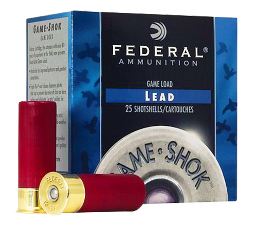"Federal 20 Gauge Ammunition Game-Shok H20075 2-3/4"" 7.5 Shot 7/8oz 1210fps Case of 250 Rounds"