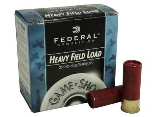 """Federal 12 Gauge Ammunition Game-Shok Heavy Field H1254 2-3/4"""" 4 Shot 1-1/4oz 1220fps Case of 250 Rounds"""