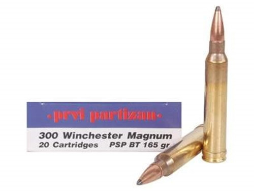 Prvi PPU 300 Win Mag Ammunition PP3002 165 Grain Pointed Soft Point Boat Tail 20 Rounds