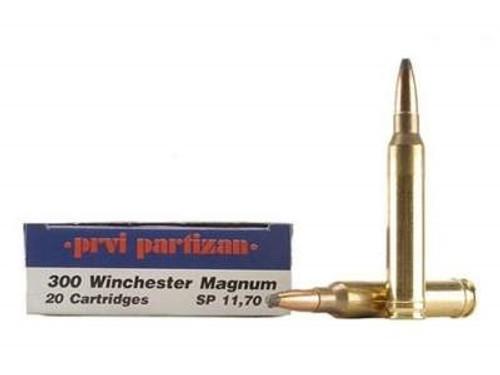 Prvi PPU 300 Win Mag Ammunition PP3003 180 Grain Soft Point 20 Rounds