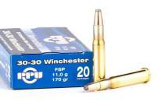 Prvi PPU 30-30 Win Ammunition PP30302 170 Grain Soft Point 20 Rounds