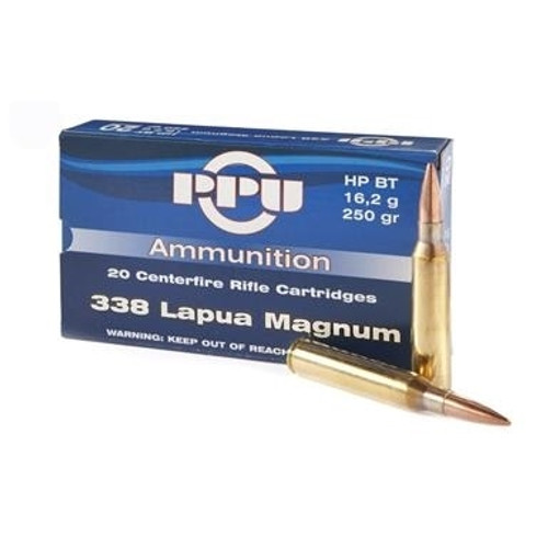 Prvi PPU 338 Lapua Mag Ammunition PP338H 250 Grain Hollow Point Boat Tail 10 Rounds