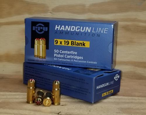 Prvi PPU 9mm BLANK Ammunition PPB9L 50 Rounds