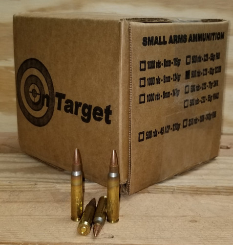 On Target 223 Rem Ammunition M193 Full Metal Jacket 55 Grain Bulk Pack 500 Rounds