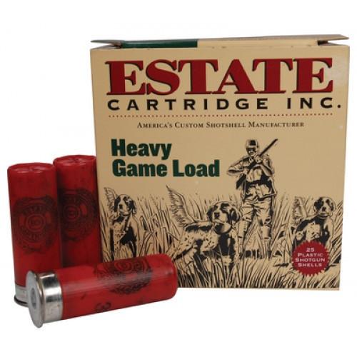 """Estate 12 Gauge Ammunition Heavy Game Loads HG128 2-3/4"""" 8 Shot 1-1/8oz 1255fps Case of 250 Rounds"""