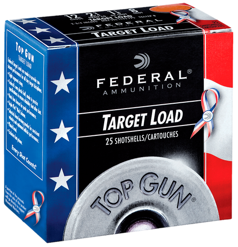 "Federal 12 Gauge Ammunition Top Gun FTGL12US8 2-3/4"" #8 Shot 1-1/8 oz 1145 Case of 250 rounds"