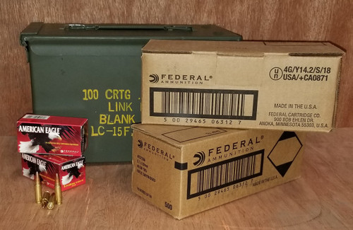 Bundle Federal 5.7x28mm Ammunition American Eagle 40 Grain Full Metal Jacket Inside US Surplus Ammo Can 1000 Rounds