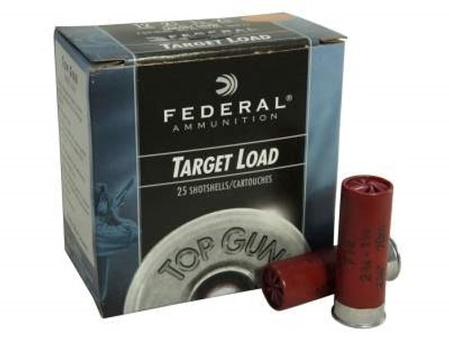 "Federal 12 Gauge Ammunition Top Gun Target TG12EL8 2-3/4"" 8 Shot 7/8oz 1200fps Case of 250 Rounds"