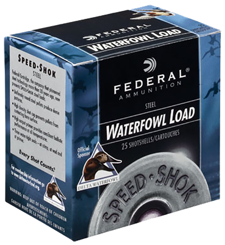 "Federal 12 Gauge Ammunition Speed-Shok Waterfowl WF143BB 3"" BB Shot 1-1/8oz 1550fps Case of 250 Rounds"