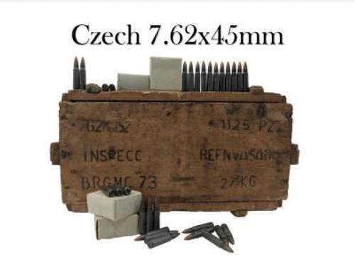 Czech 7.62x45mm Surplus Ammunition AM2958 131 Grain Full Metal Jacket 15 Rounds