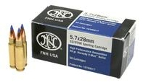 FN 5.7mmx28mm Ammunition *Blemished Packaging* SS197SR 40 Grain V-Max 50 Rounds