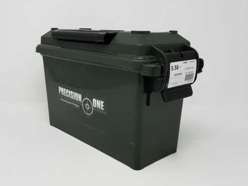 Precision One 5.56x45mm Ammunition REMAN *Seconds* 902 62 Grain Full Metal Jacket Ammo can of 500 Rounds
