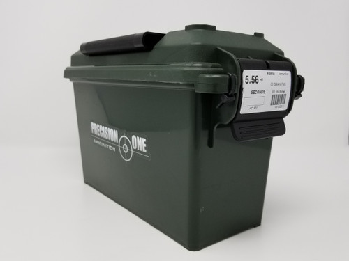 Precision One 5.56x45mm Ammunition REMAN *Seconds* 901 55 Grain Full Metal Jacket Ammo Can of 500 Rounds