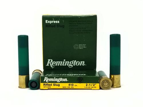"""Remington 410 Bore Ammunition SP410RS 2-1/2"""" Slug 1/5oz 1830fps 5 Rounds"""