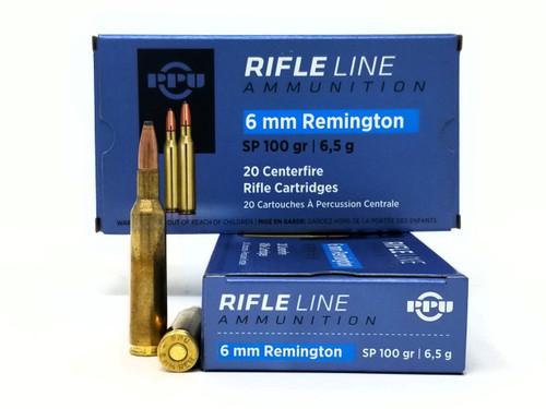 Prvi 6mm Rem Ammunition PP6R 100 Grain Soft Point 20 Rounds