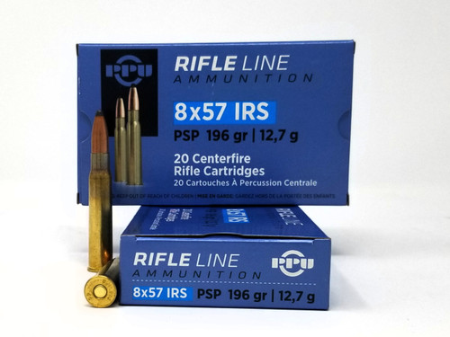 Prvi 8x57 IRS Ammunition PP857I 196 Grain Pointed Soft Point 20 Rounds