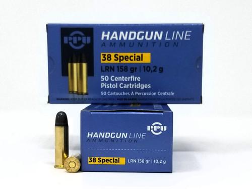 Prvi PPU 38 Special Ammunition PPH38SL 158 Grain Lead Round Nose 50 Rounds