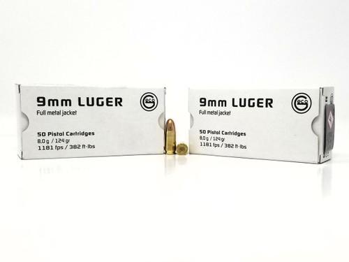Geco 9mm Ammunition 220340050 124 Grain Full Metal Jacket Case of 1000 Rounds