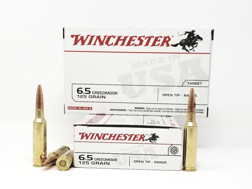 Winchester 6.5 Creedmoor Ammunition Best Value USA65CM 125 Grain Open Tip 20 Rounds