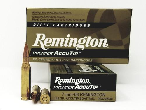Remington 7mm-08 Rem Ammunition PRA7M08RB 140 Grain Accutip Boat Tail 20 Rounds