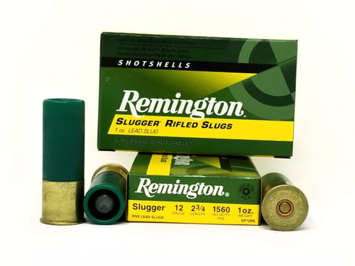 "Remington 12 Gauge Ammunition Slugger SP12RS 2-3/4"" Slug 1oz 1560fps Case of 250 Rounds"