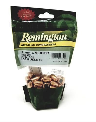 Remington 9mm (.355 Diameter) RB9MM3 Reloading Bullets  115 Grain Full Metal Jacket 100 Pieces