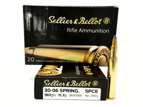 Sellier & Bellot 30-06 Springfield Ammunition SB3006E 180 Grain SPICE 20 Rounds