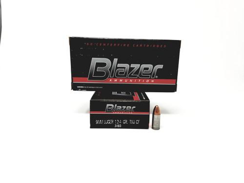 CCI 9mm Ammunition Blazer Clean Fire 3460 124 Grain Full Metal Jacket 50 Rounds