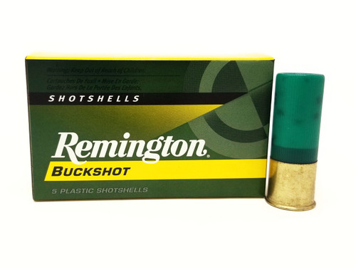 "Remington 12 Gauge Ammunition 12B4 2-3/4"" 4 Buck 27 Pellets 1325fps 5 Rounds"