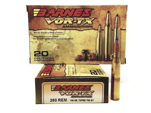 Barnes 280 Rem Ammunition VOR-TEX 22011 140 Grain Tipped TSX Ballistic Tip 20 Rounds