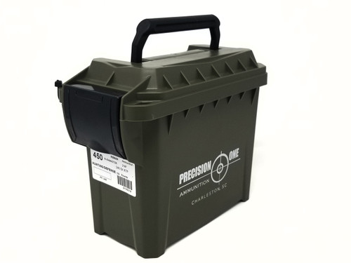 Precision One 450 Bushmaster 240 Grain XTP Hollow Point *Reman* Mini Ammo Can of 100 Rounds