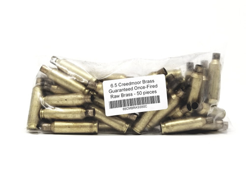 Mixed 6.5 Creedmoor Brass Castings once Fired Not Washed 50 Pieces