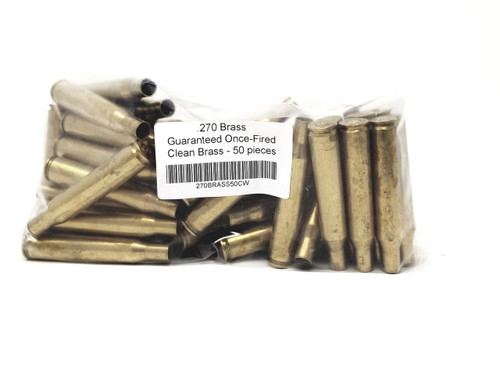 Mixed 270 Win Brass Casings Once Fired Washed 270BRASS50CW 50 Pieces