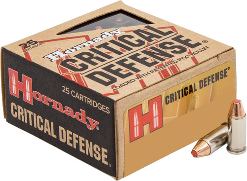 Hornady 32 ACP Ammunition Critical Defense FTX 90063 60 Grain Flex Tip Expanding 25 rounds