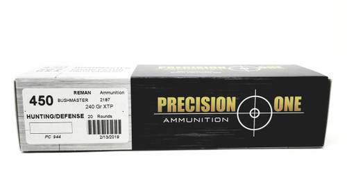 Precision One 450 Bushmaster 240 Grain XTP Hollow Point *Reman* Case of 200 Rounds