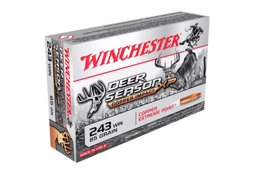 Winchester 243 Win Ammunition Deer Season XP X243DSLF 85 Grain Copper Impact Extreme Point 20 Rounds