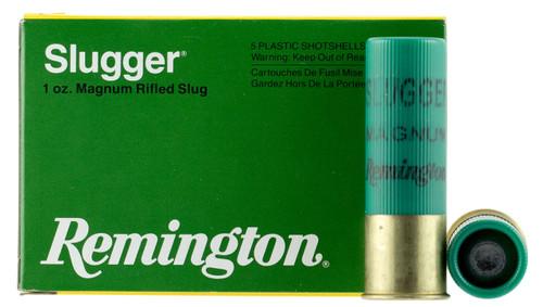"Remington 12 Gauge Ammunition Slugger Magnum S12MRS 3"" Slug 1oz 1760fps 5 Rounds"
