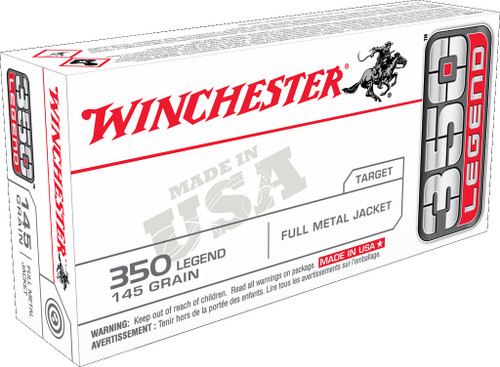 Winchester 350 Legend Ammunition USA3501 145 Grain Full Metal Jacket 20 Rounds