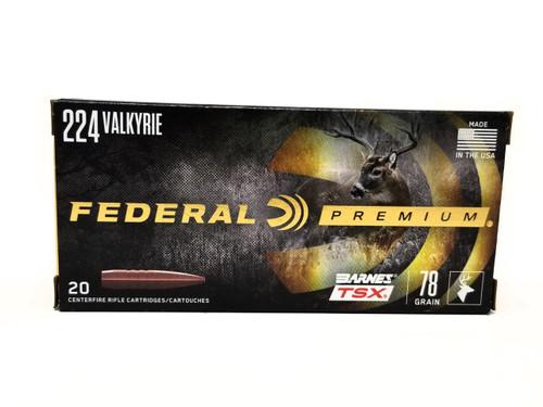 Federal 224 Valkyrie Ammunition P224VLKBTSX1 78 Grain Triple-Shock X Bullet 20 Rounds