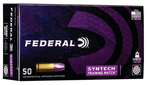 Federal 9mm Ammunition Syntech AE9SJ4 125 Grain Total Syntech Jacket Flat Nose 50 Rounds