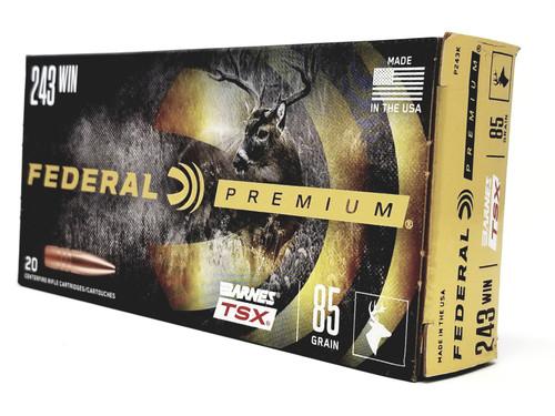 Federal 243 Win Ammunition TSX P243K 85 Grain Triple-Shock X 20 Rounds