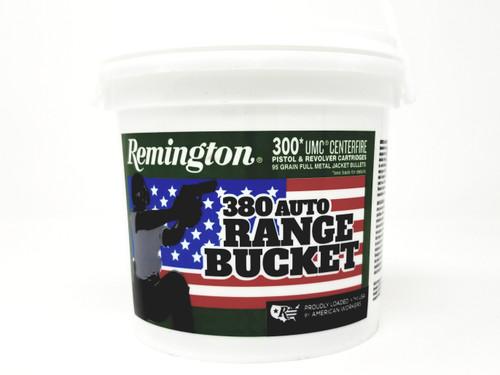 Remington 380 ACP Ammunition UMC Range Bucket L380APBCA 95 Grain Full Metal Jacket 300 Rounds