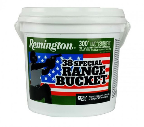 Remington 38 Special Ammunition UMC Range Bucket L38S11BC 130 Grain Full Metal Jacket 300 Rounds