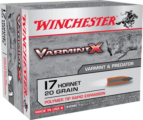 Winchester 17 Hornet Ammunition Varmint-X X17P 20 Grain Polymer Tip 20 Rounds