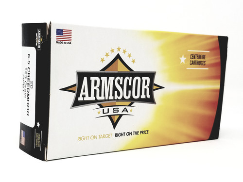 Armscor 6.5 Creedmoor Ammunition FAC65C1N 123 Grain Hollow Point Boat Tail 20 Rounds