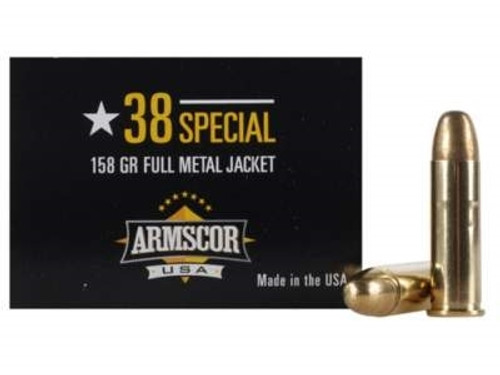 Armscor 38 Special Ammunition 50449 158 Grain Full Metal Jacket 100 Rounds